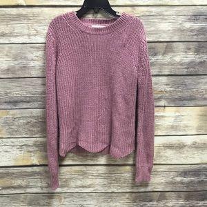 Copper Key scalloped hem sweater